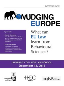 Nudging Europe: What Can EU Law Learn From Behavioural Sciences?